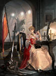 Jeanne d'Arc Red dress by inshoo1