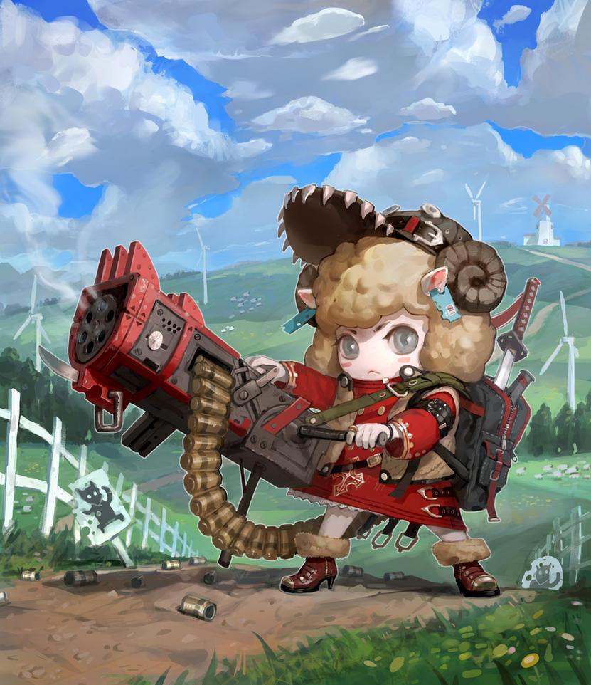 Sheep gunner by inshoo1
