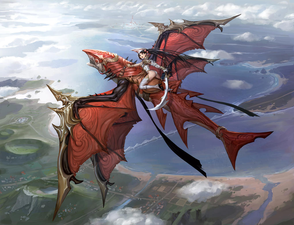 red dragon flying by inshoo1 on deviantart