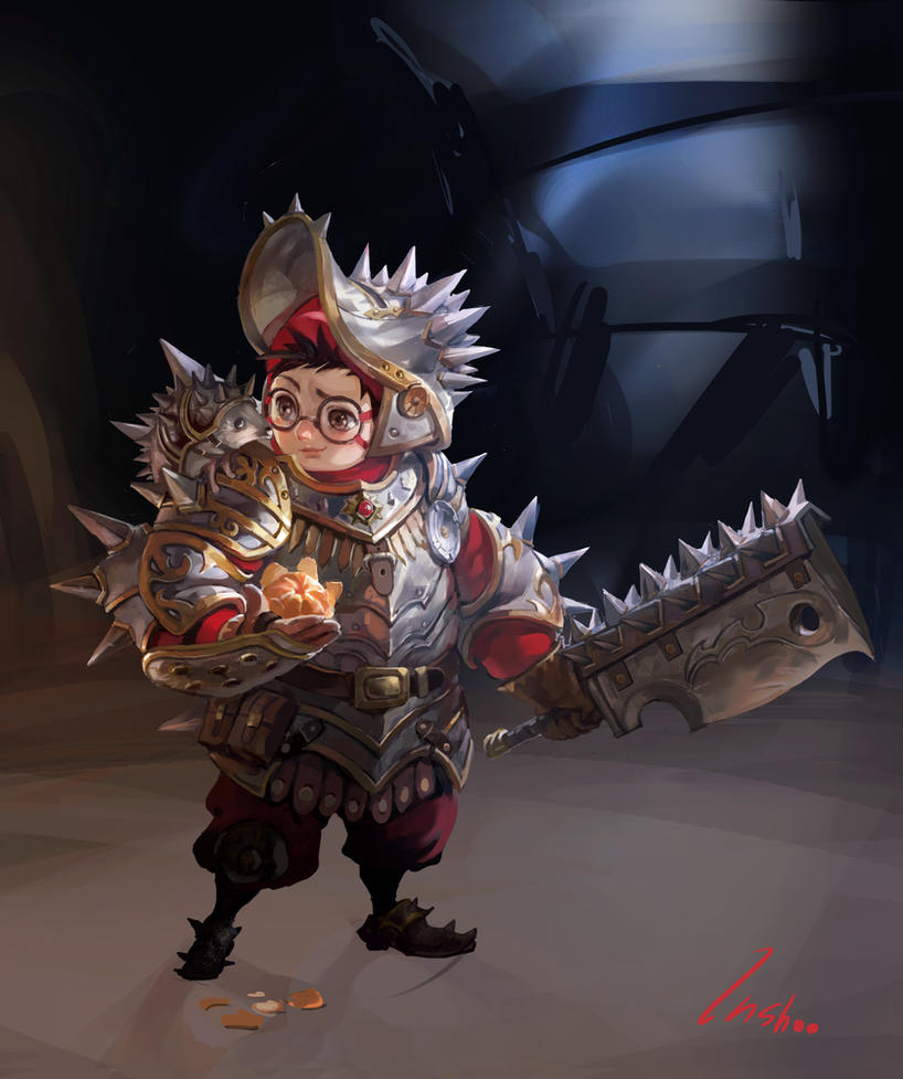 Hedgehog Knight by inshoo1
