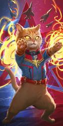 Captain Marvel's Goose in the Avengers Endgame? by inshoo1