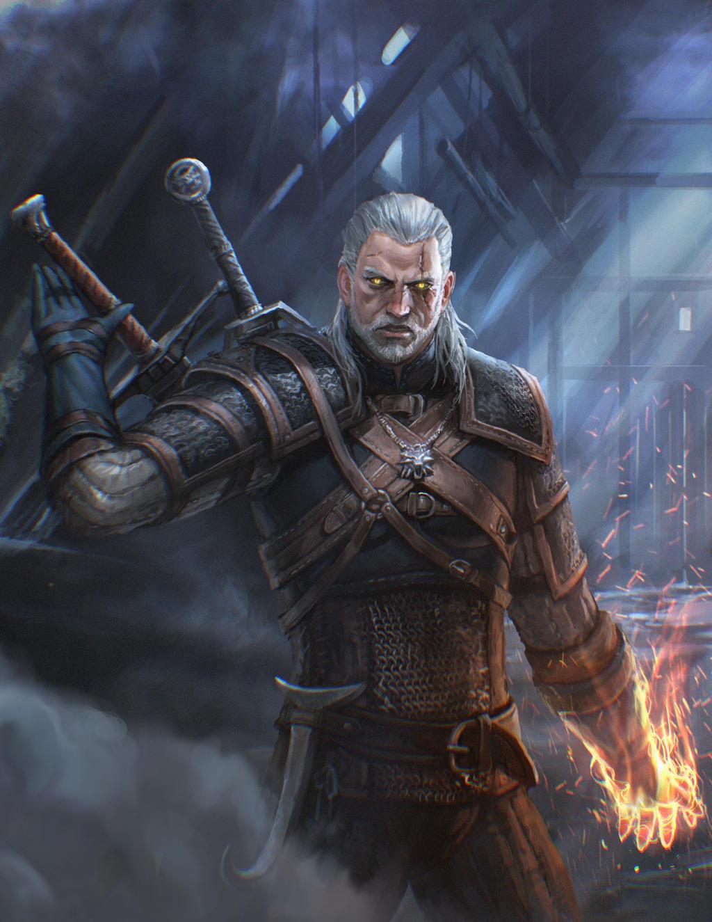 Geralt The Witcher Fanart By Inshoo1 On Deviantart
