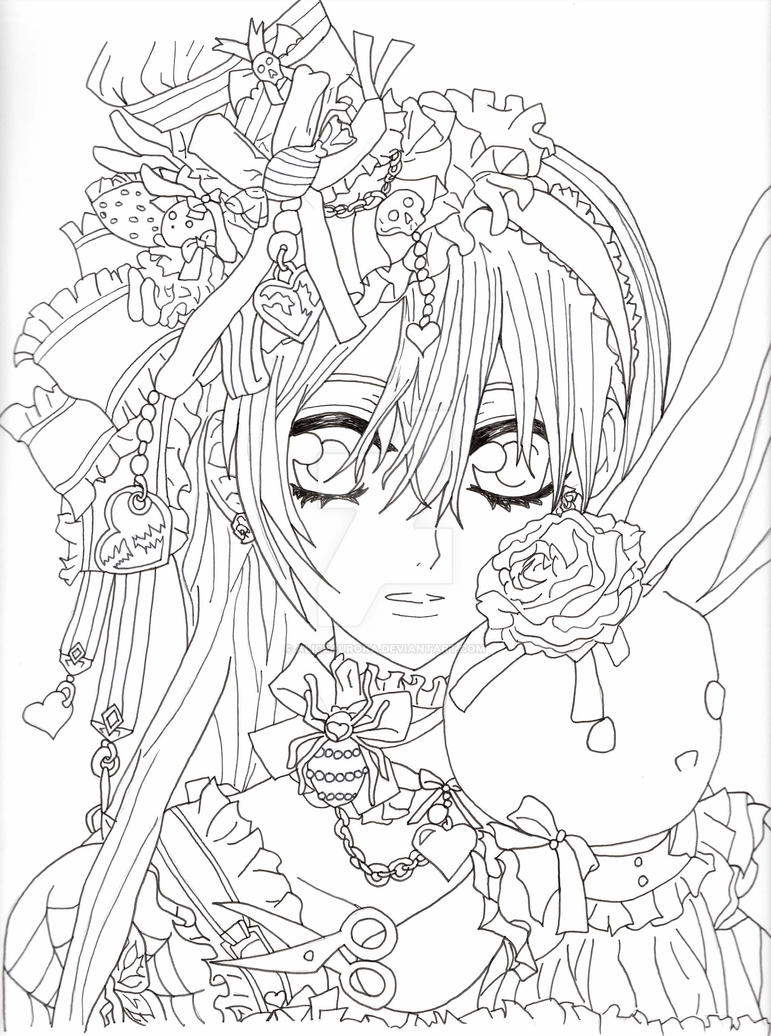 Yuki cross lineart vampire knight by aliceaurora on for Vampire knight coloring pages