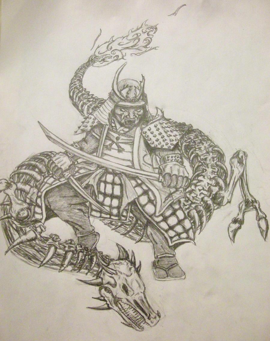 samurai tattoo by LAZI1580