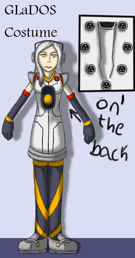 GLaDOS Costume Design by TomoGeminiLion