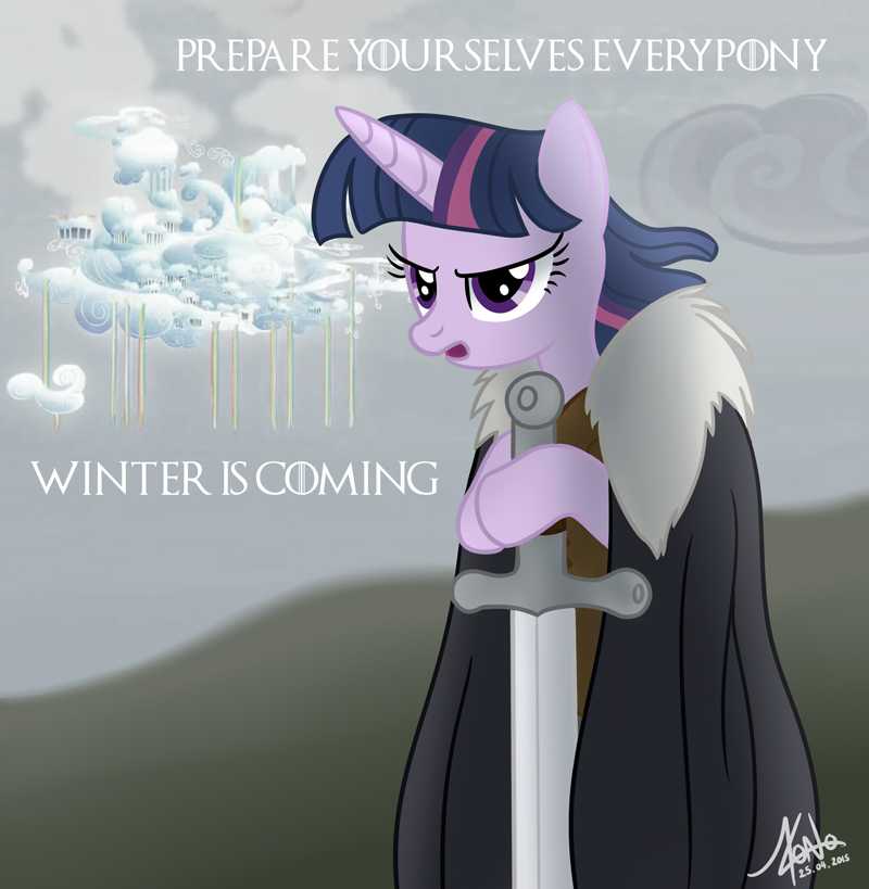 Cloudsdale winter is coming by Valinhya
