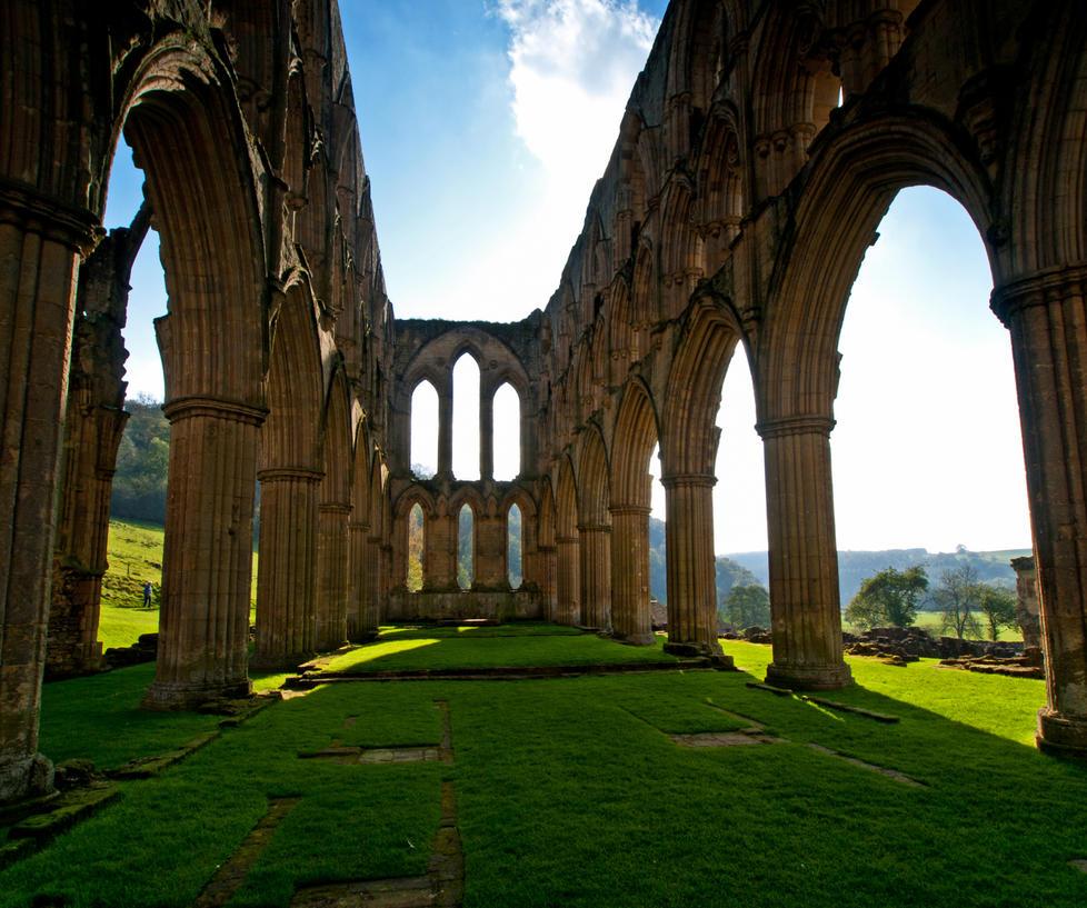 Rievaulx Abbey Ruins by davepphotographer