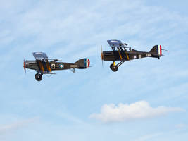 Bristol F2B and Se5 Old Warden by davepphotographer