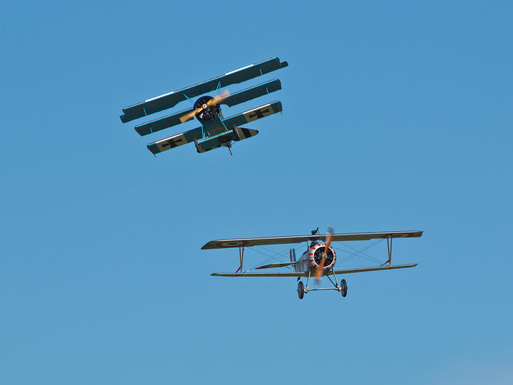 WW1 Dogfight Duxford by davepphotographer