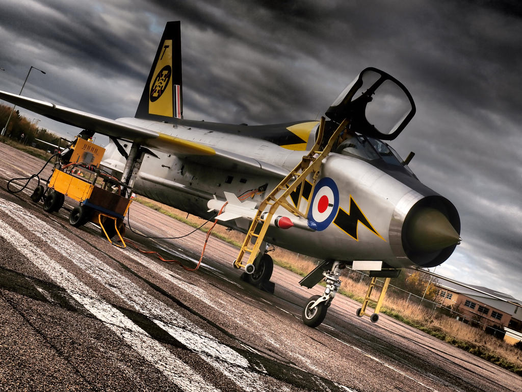 Lightning T5 - Cranfield Airfield by davepphotographer