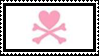 heart and crossbones stamp by sixthkidfromthestarz