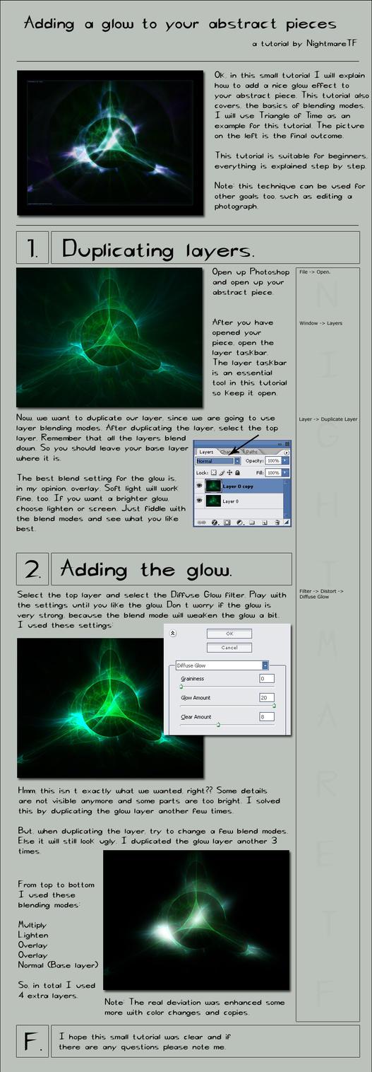photoshop how to add a glow