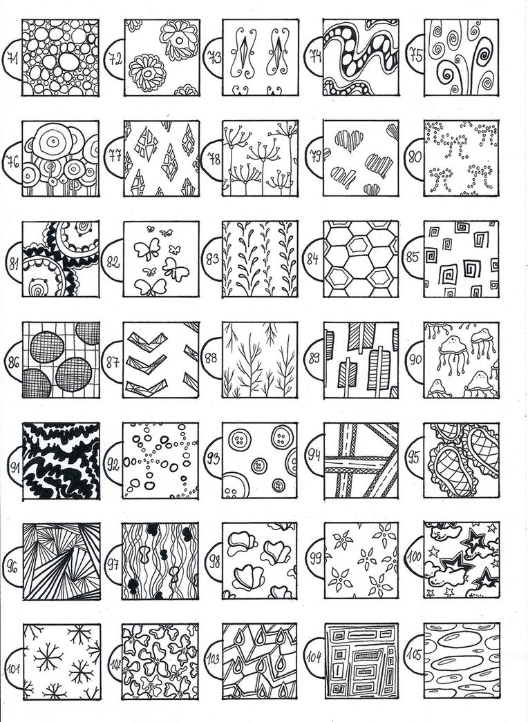 Simple textures and patterns 70 105 by catherinewhite on for Basic doodle designs