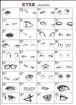 Practice of drawing eyes