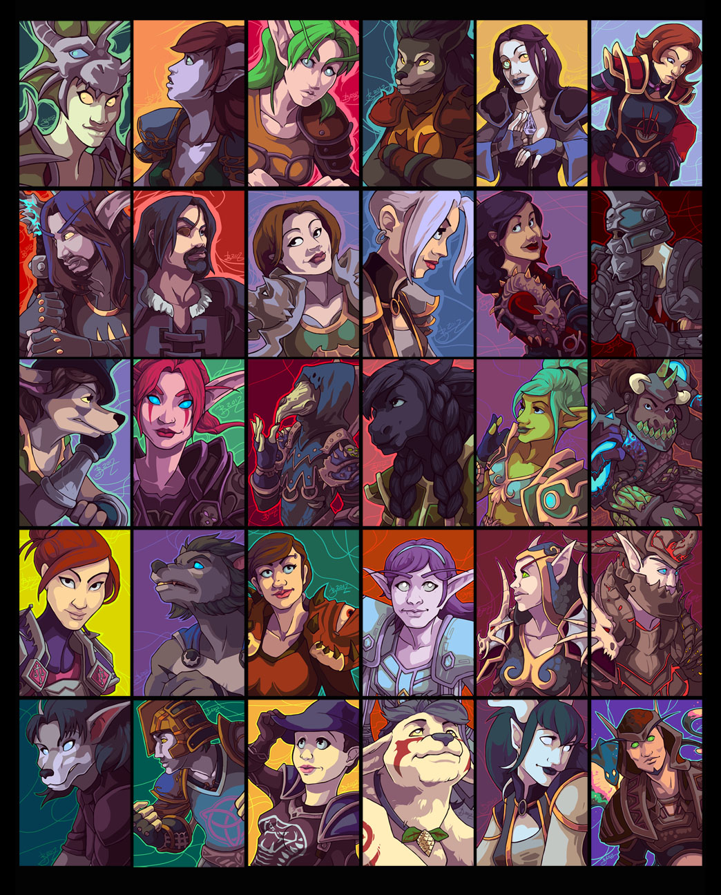 30 WoW Portraits by emily-lorange