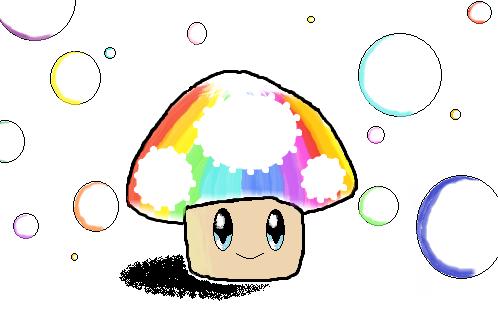 Rainbow Mushroom by Doudouxd