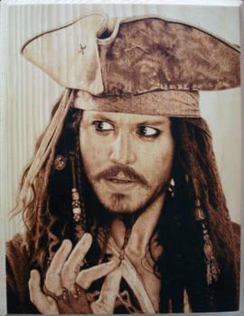 Captain Jack Sparrow Pyrography (Woodburning)