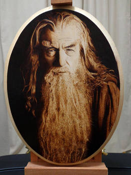 Gandalf The Gray, The Hobbit [Pyrography]
