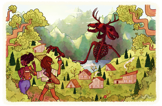 Fantasy Girlfriends Hiking | School Assignment