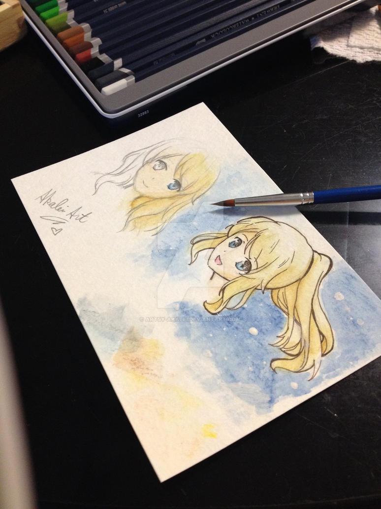 Watercolor Scrap #1 by artsy-akalei