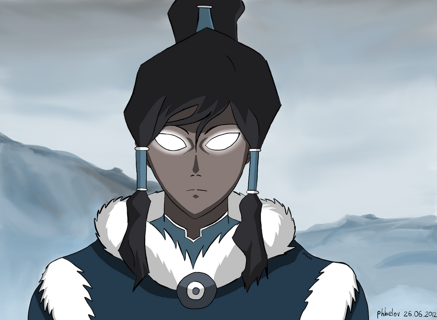 Korra - Avatar State // w/ background by phbelov on DeviantArt Aang Avatar State Korra