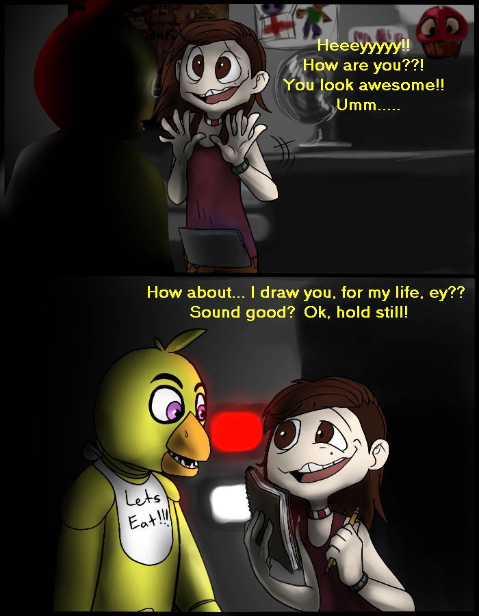 A Gift for Chica - FNaF Comic - Part 2 by AccursedAsche on