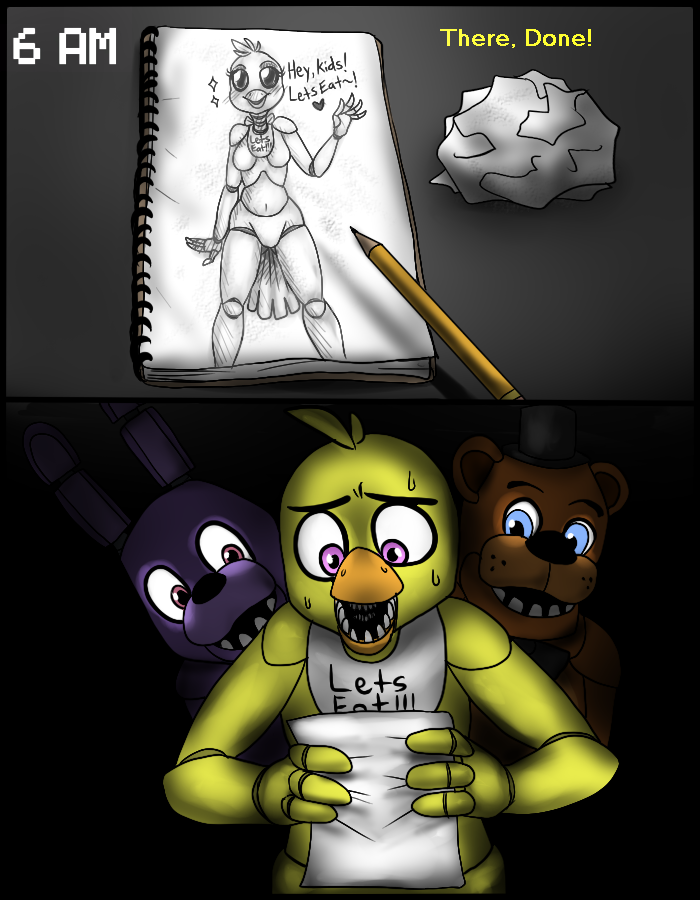 Gift for chica fnaf comic part 3 by accursedasche on deviantart