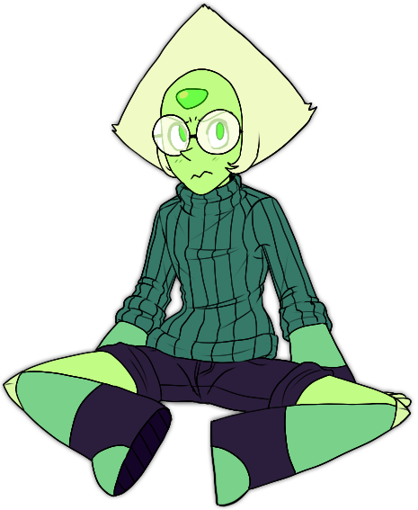 I couldn't help it. I like drawing little Nerdy Peridot. <333