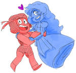 Ruby and Sapphire - Doodle