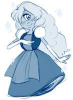 Sapphire (doodle) by AccursedAsche