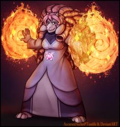 Rosiel (Rose Quartz + Toriel Fusion)