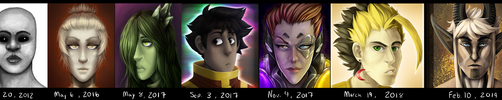 Painting Improvement (2012 to 2019) by AccursedAsche