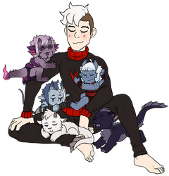 A Dad and his AU kids by AccursedAsche