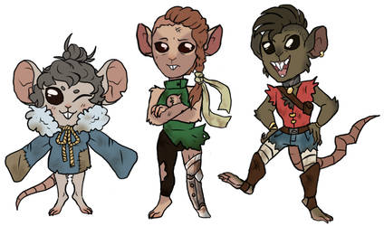 Humanoid Rat Monsters (Chibi)(adopted) by AccursedAsche