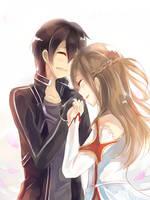 Kirito and Asuna by WingedKcat