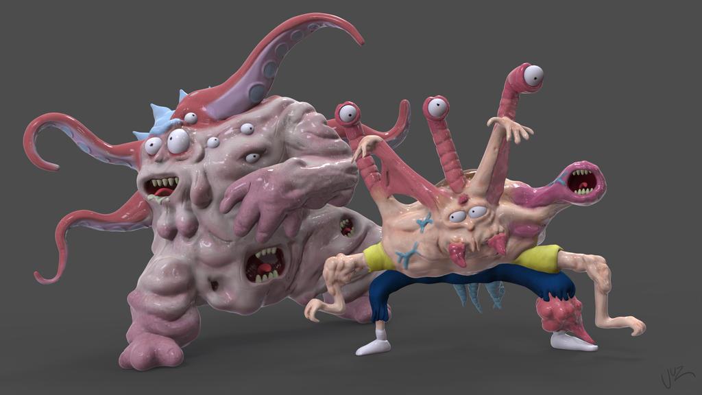 Cronenberg Rick and Morty by juzmental