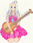 Mirajane with her guitar