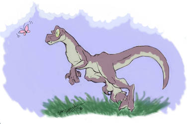Deinonychus - Butterfly Chase