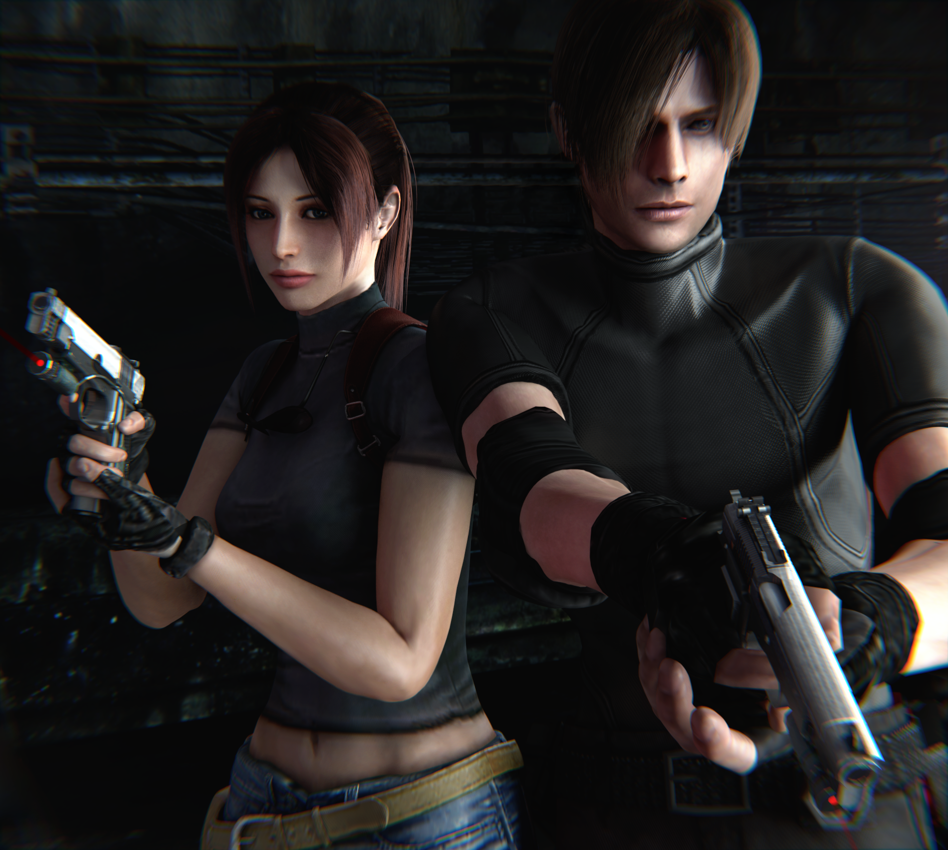 resident evil leon and claire relationship help