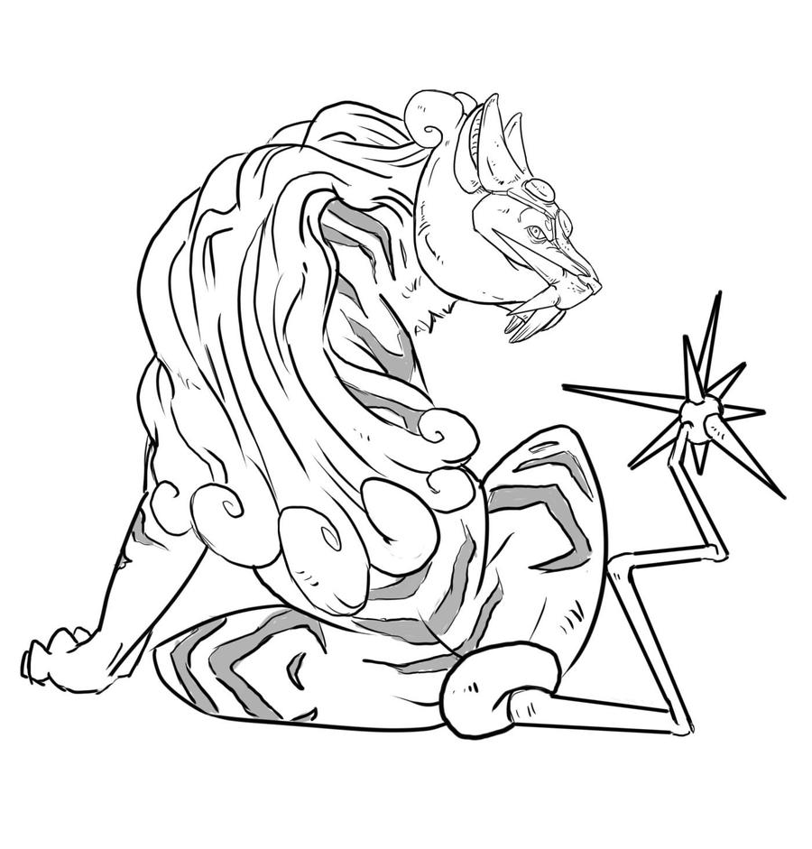 Raikou Coloring Pages Coloring Pages