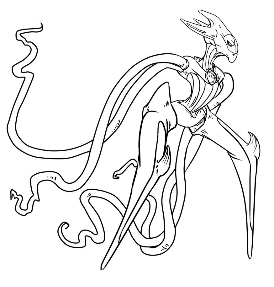 Pokemon coloring pages deoxys ~ Deoxys Attack Form Coloring Pages Coloring Pages