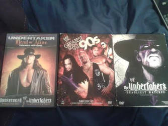 Undertaker DVDs by hopeless-romance45