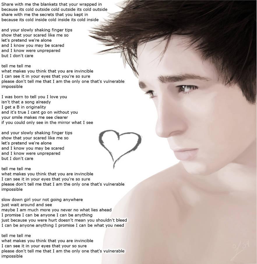 Lyrics 2 - Vulnerable by AreoX on DeviantArt