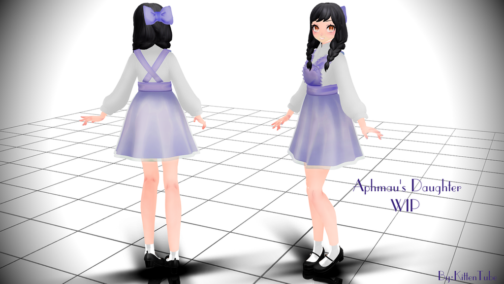 Anna WIP (Aphmau's Daughter) [MMD] by CurryKitten on ...