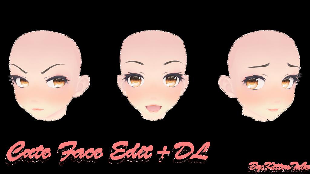Cute Face Edit + DL! by KittenTube
