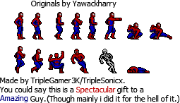 SpiderMan PS1-DC-N64 2D Sprites by triplesonicX