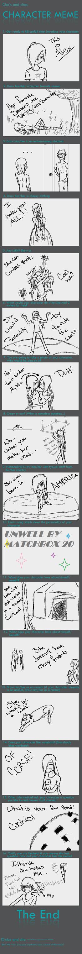 Alex Character Meme by Kaira-Nakimi