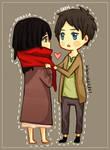 SnK: Eren and Mikasa