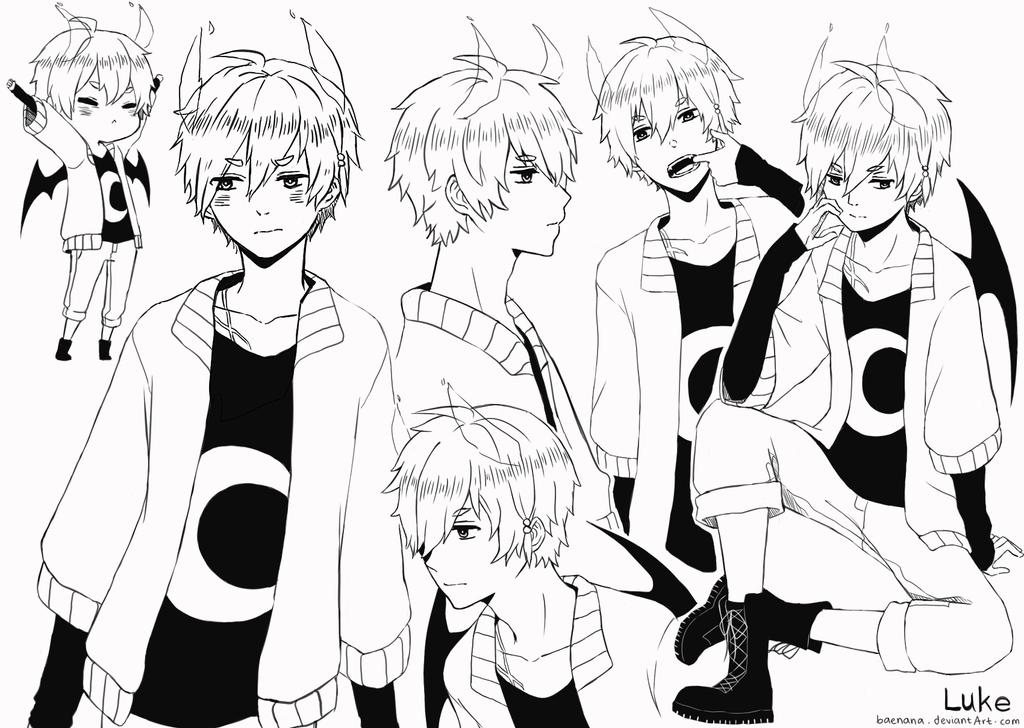 OC sketch: Luke by baenana