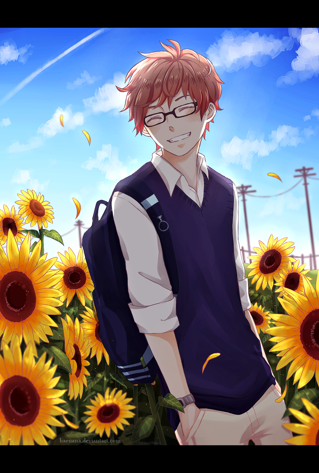 sunflower boy by baenana